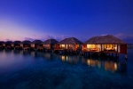 Water Villas at night